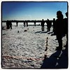 This is what a Winter Kubb Tournament looks like