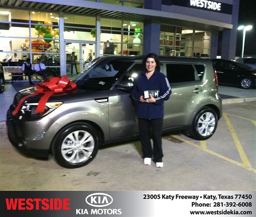 Thank you to Zaira Duarte on your new 2014 #Kia #Soul from Ricardo  Navarro and everyone at Westside Kia! #NewCar by Westside KIA