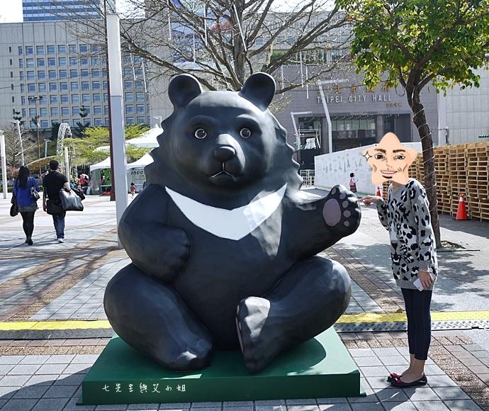 10 紙貓熊 1600貓熊之旅-台北 0224 台北市政府廣場展覽