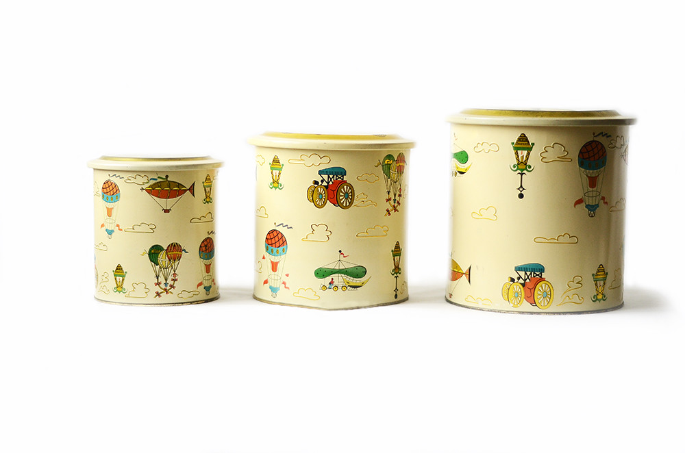 Three Vintage Hot Air Balloon Canisters