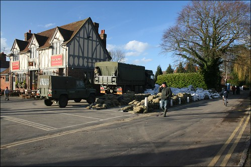 The army have taken over this pub