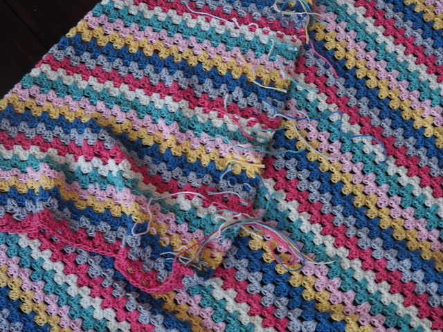 Finishing Your Granny Stripe Blanket