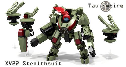 Tau Commander Shadowsun in XV22 Stealthsuit by Garry_rocks