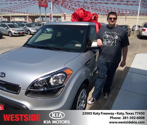#HappyAnniversary to Chad Arnold on your 2013 #Kia #Soul from Mohammed Ziauddin and everyone at Westside Kia! by Westside KIA