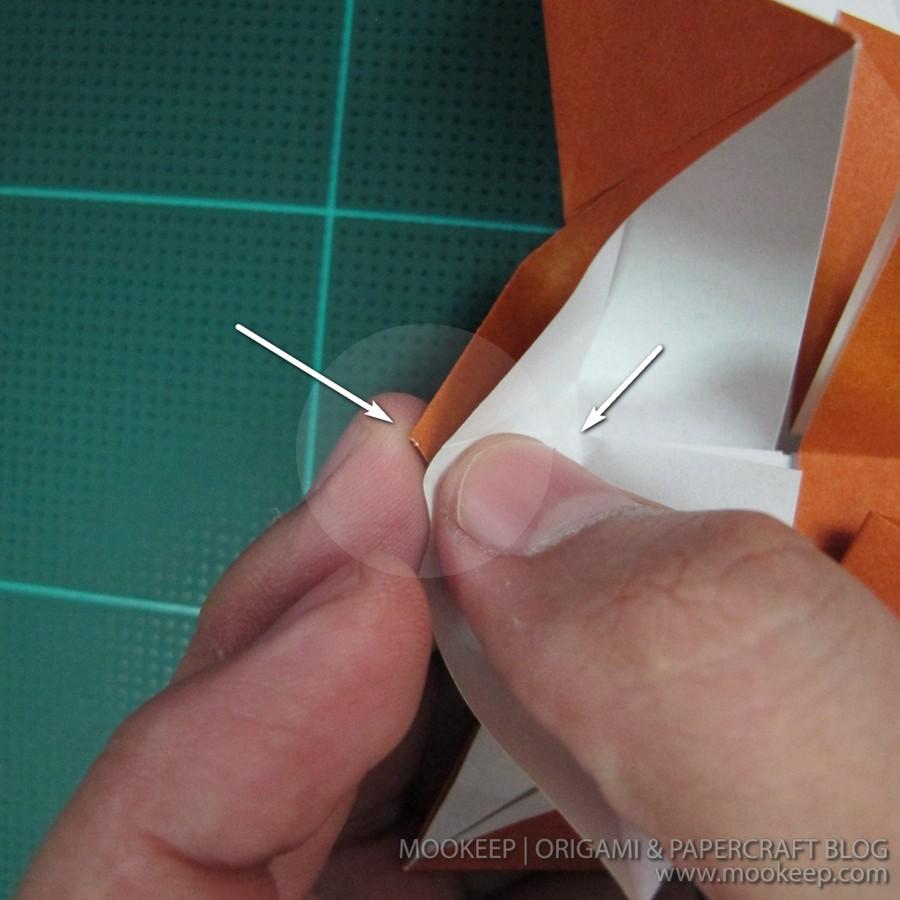 วิธีพับกระดาษเป็นรูปหมี (Origami Bear) 013