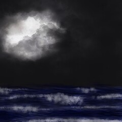 """Stormy nights"" via procreate drawing app."