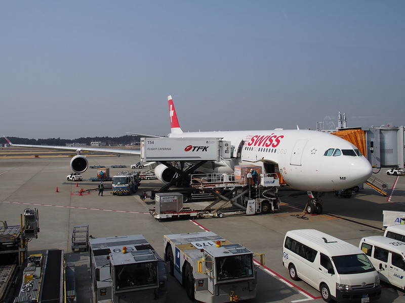 Swiss Air A340 at Narita Int'l Airport
