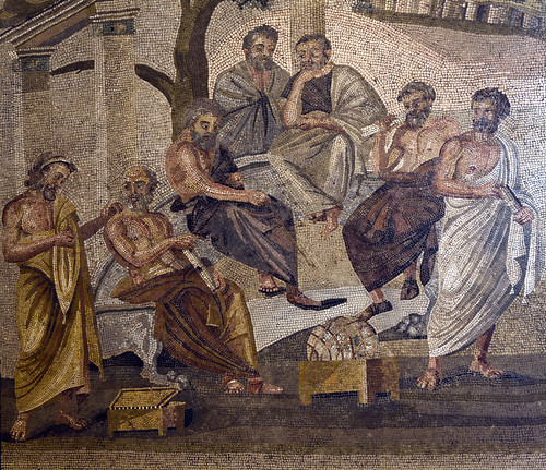 Mosaic of Academy of Plato discovered at Pompeii, Naples National Archaeological Museum