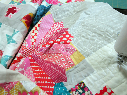 trying some echo quilting