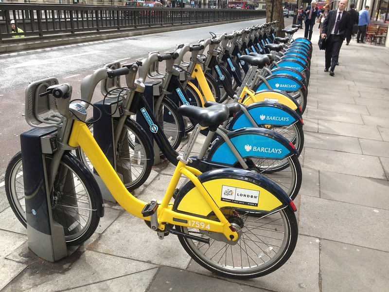 TdF Boris Bikes. Love these.
