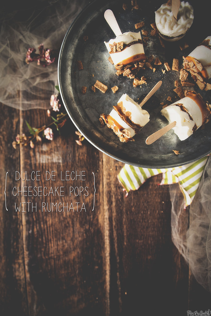 Dulce de Leche Cheesecake Pops with RumChata | PasstheSushi.com