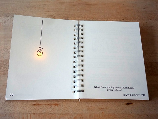Circuit Sticker Sketchbook lightbulb