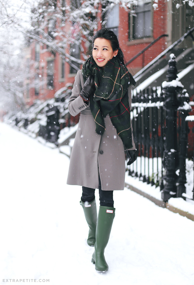 hunter green and taupe winter outfit1