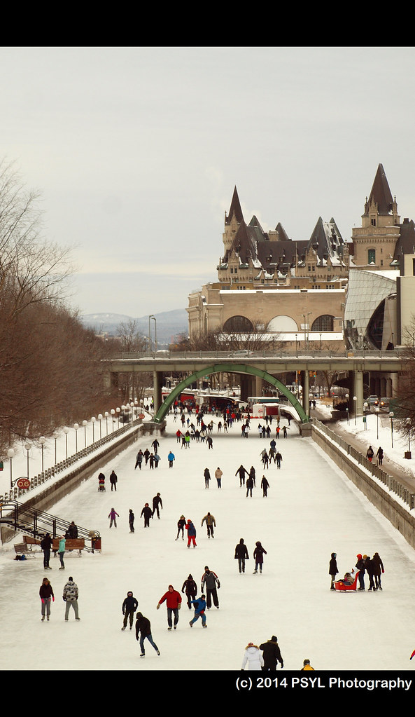 Skaters on Rideau Canal