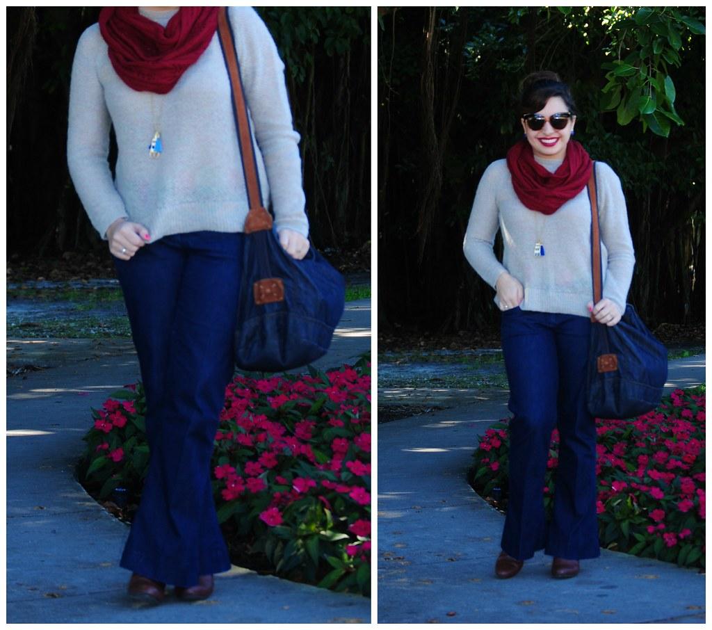 boho 70's fall outfit