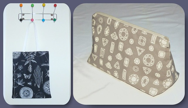 tote bag make up pouch collage