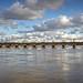 Le Pont de Pierre sur la Garonne (Pano). Bordeaux by Abariltur
