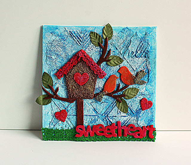 Hello-sweetheart-mixed-media-canvas-by-Yvonne-Yam-for-Maya-Road