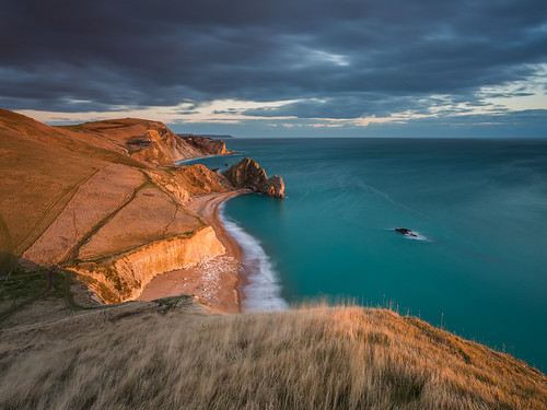 winter light sea england cloud man west beach coast war view jake unitedkingdom head path south pike jurassic bats durdledoor westlulworth