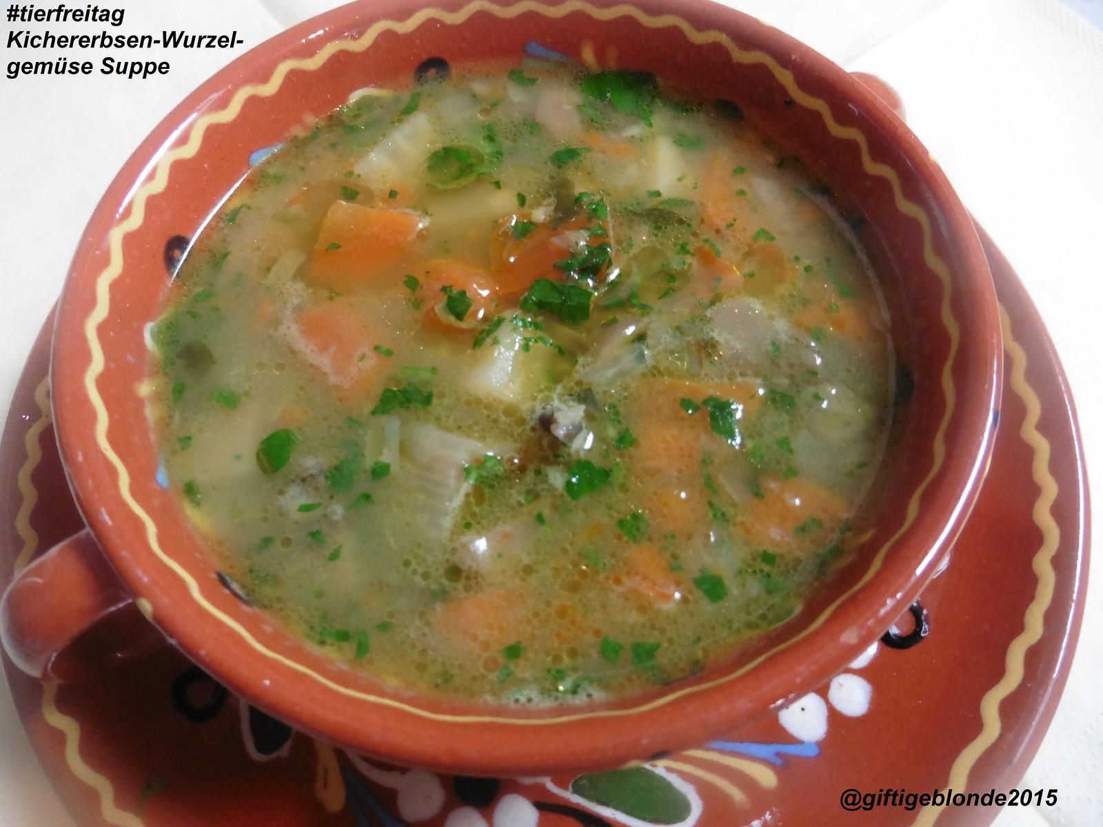 Kichererbsen-Wurzelgemüse Suppe