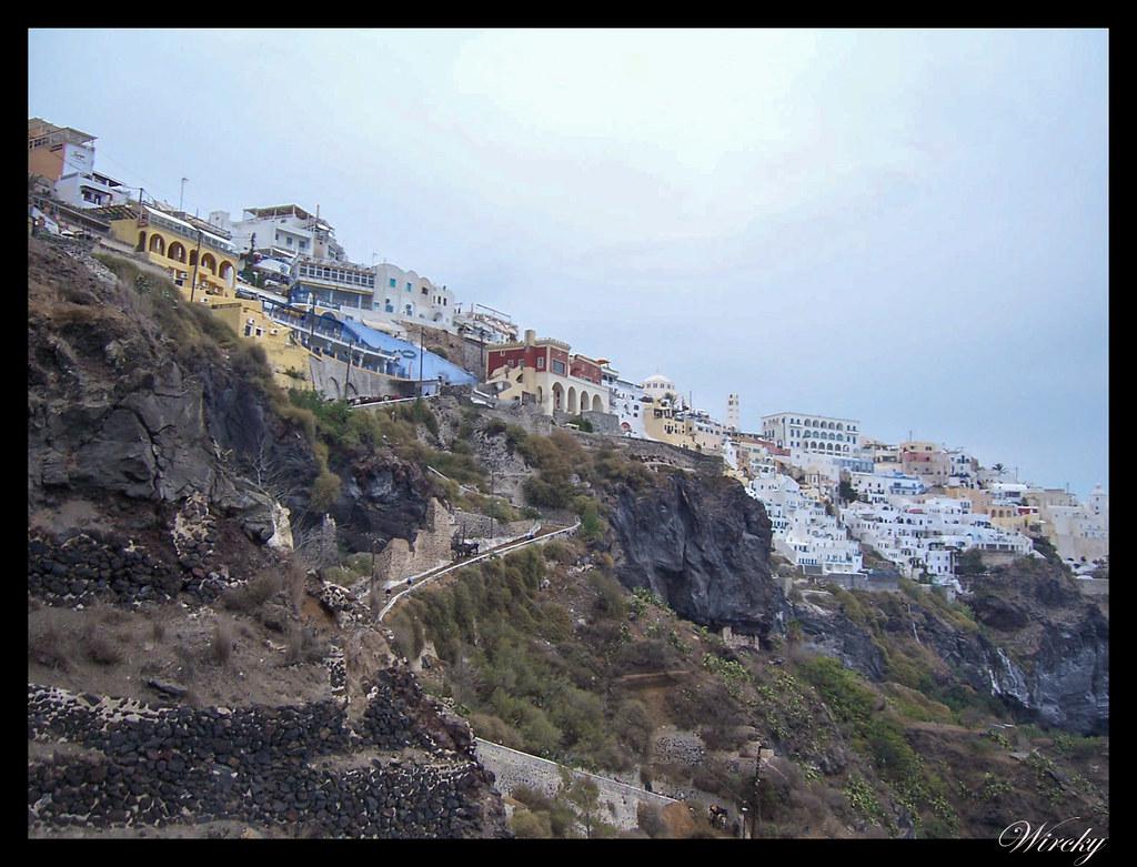 Crucero por el Mediterráneo - Firá desde el teleférico