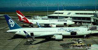 Air New Zealand Boeing 767-319(ER)(WL) ZK-NCL Qantas Airbus A330-203 VH-EBI
