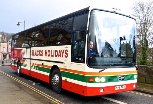 N75 FWU KV & GL Slack' DAF SB 3000 / Van Hool Alizee on  'Dennis Basfords' railsroadsrunways.blogspot.co.uk
