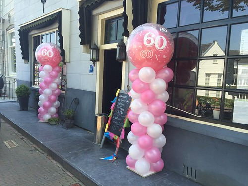 Ballonpilaar Breed Rond 60 Jaar Food and Drink Zuidland
