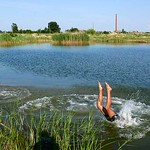 Der Baggersee der Ziegelei ist noch immer die beliebteste Bademöglichkeit in der Umgebung.