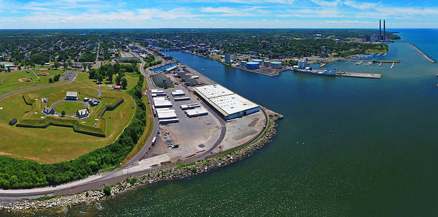 Oswego and Fort Ontario Aerial Panoramic
