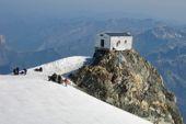 Montblanc, 4810 m, Besteigung mit Bergführer. Vallothütte, 4362 m. Foto: Archiv Härter.