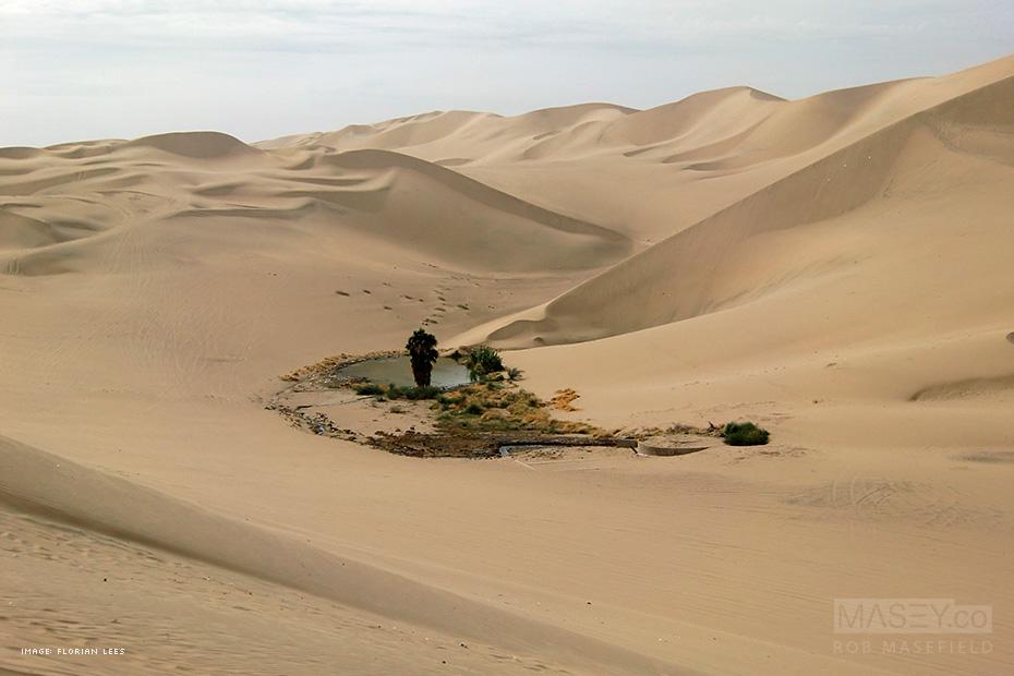 Huacachina Oasis, Peru.