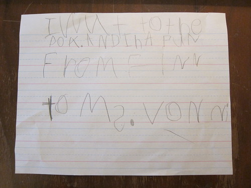 To Ms. Vonni from Finn