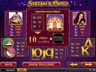 free Sultan's Gold slot mini symbol
