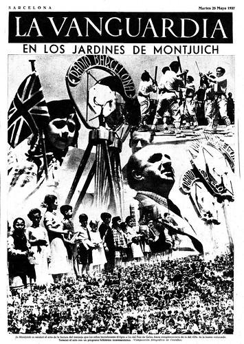 Barcelona 25 de mayo de 1937, festival infantil en los jardines de Montjuich, Barcelona. by Octavi Centelles
