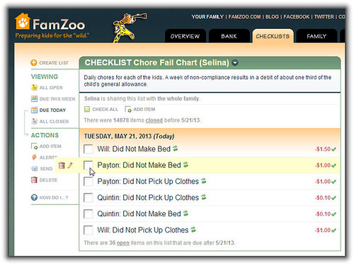 Chore Fail Chart from Finovate Demo