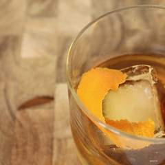 Old Fashioned with Vanilla Simple Syrup