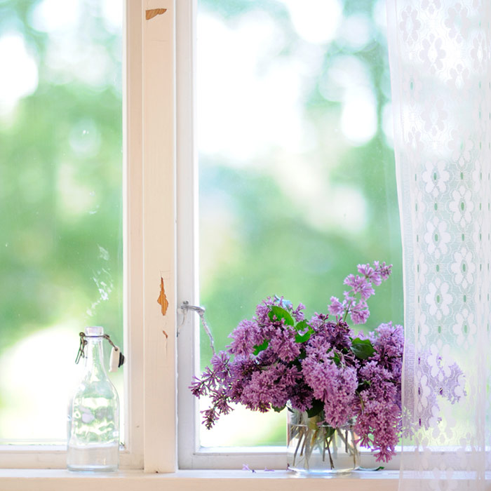 Lilacs on The Porch
