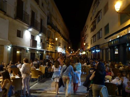 Calle Misericordia por la noche (El Puerto de Santa María)