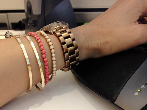 bracelet stacking for small wrists