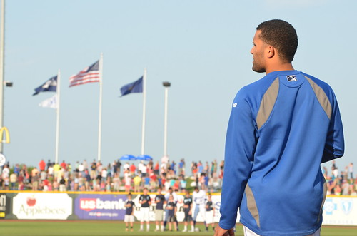 Kelvin Herrera during the National Anthem