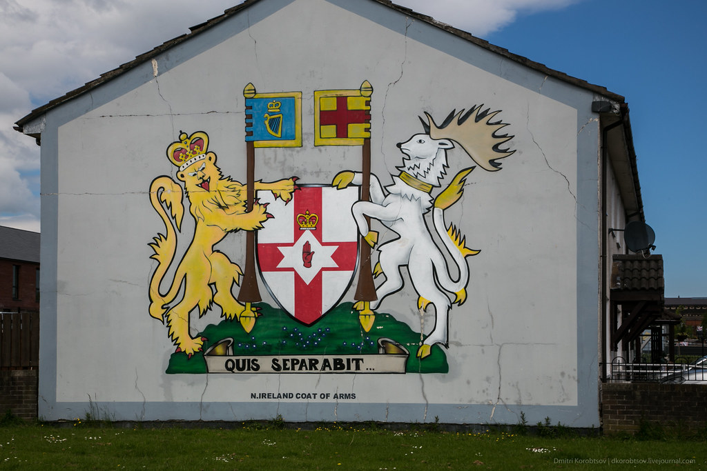 'North Ireland Coat of Arms' mural