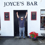 Matt at Joyce's Bar after horse back riding - Clifden Ireland