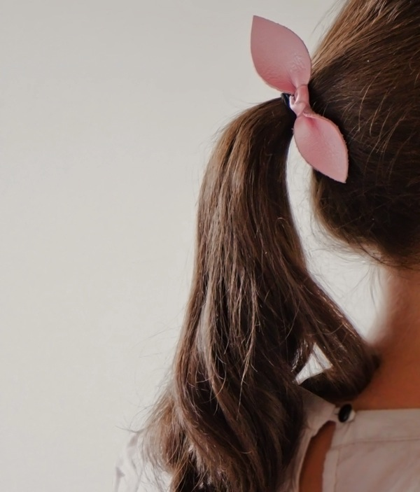 DIY Leather Bow Hair Tie
