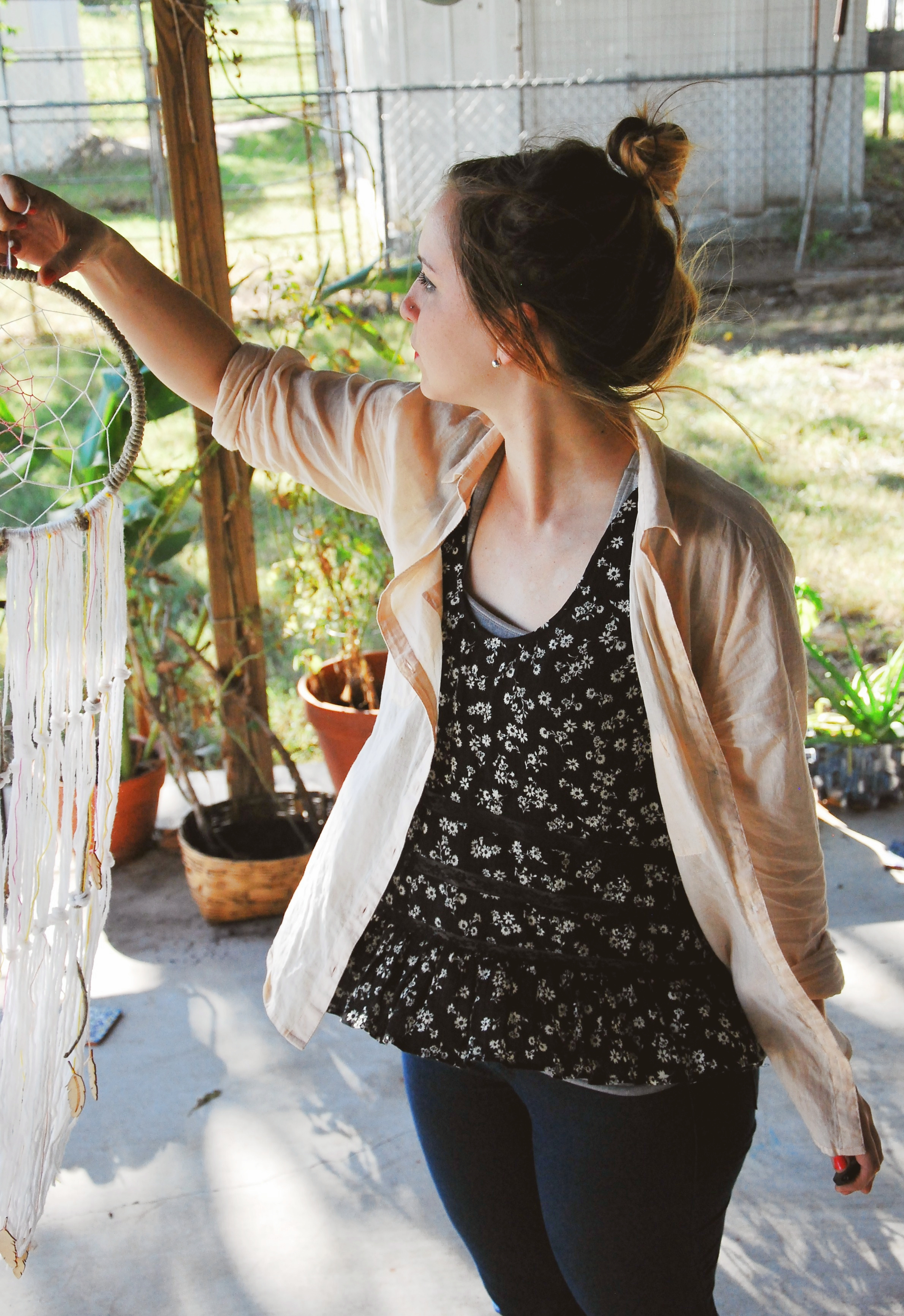 DIY macrame dream catcher