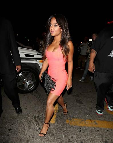 Sexy Ass Christina Milian rocking a skin  tight dress