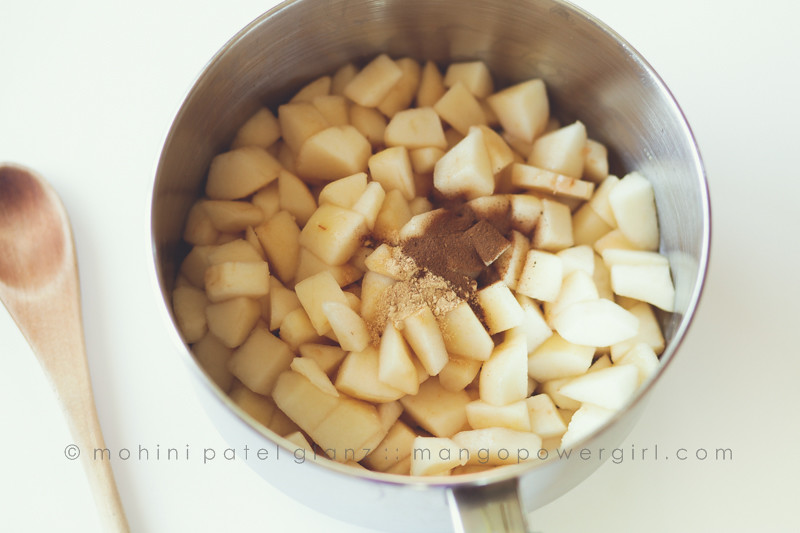 Chopped Pears & Spiced ready to cook