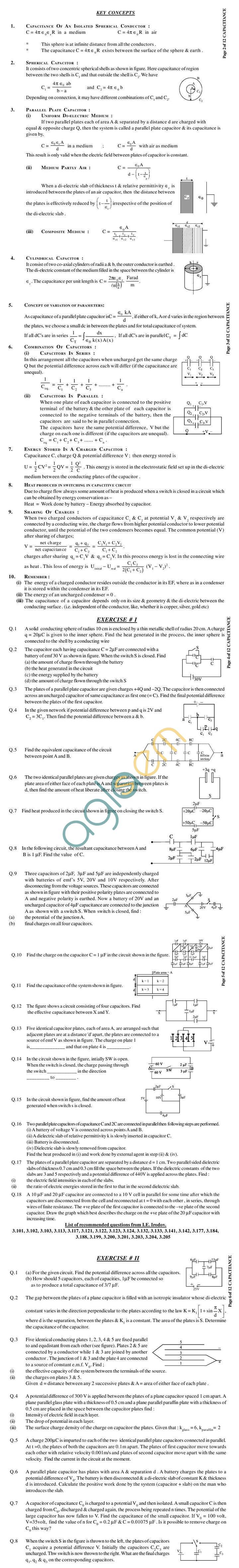 Physics Study Material - Capacitance