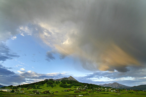 mountain storm mountains rain clouds sunrise colorado day crestedbutte mtcrestedbutte