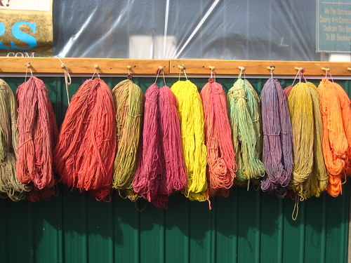 Yarn on a barn